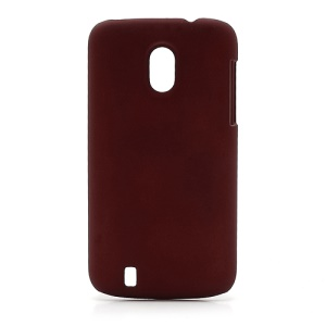 Frosted Rubberized Plastic Case Cover for ZTE V889M Blade 3 III - Red