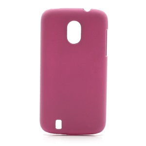 Frosted Rubberized Plastic Case Shell for ZTE V889M Blade 3 III - Rose
