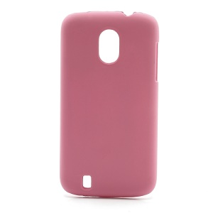 Frosted Rubberized Plastic Case Shell for ZTE V889M Blade 3 III - Pink