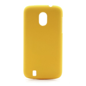Frosted Rubberized Plastic Case Shell for ZTE V889M Blade 3 III - Yellow