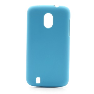 Frosted Rubberized Plastic Case Cover for ZTE V889M Blade 3 III - Baby Blue