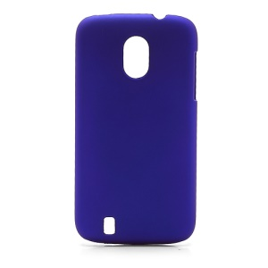 Frosted Rubberized Plastic Case Cover for ZTE V889M Blade 3 III - Dark Blue