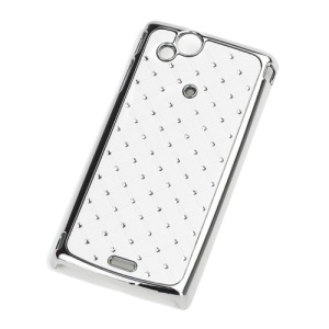 Starry Sky Diamond Plating Hard Case for Sony Ericsson Xperia Arc X12 / Arc S LT18i - White