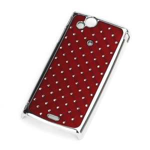 Starry Sky Diamond Plating Hard Case for Sony Ericsson Xperia Arc X12 / Arc S LT18i - Red