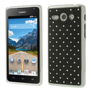 Plating Starry Sky Rhinestone Plastic Case for Huawei Ascend Y530 / C8813 - Black