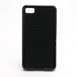 Cube Design TPU & Plastic Hybrid Case for BlackBerry Z10 BB 10 - Black
