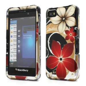 2 in 1 Snap-on Hard Protector Case for BlackBerry Z10 BB 10 with Beautiful Flower Pattern