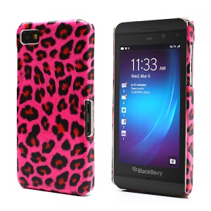 Leopard Skin Protective Hard Case Shell for BlackBerry Z10 BB 10 - Rose