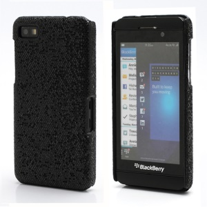Glittery Paillette Chic Protective Hard Case Shell for BlackBerry Z10 BB 10 - Black