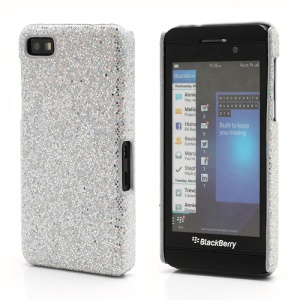 Glittery Paillette Chic Protective Hard Case Shell for BlackBerry Z10 BB 10 - Silver