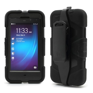 Griffin Survivor Military Duty Case with Belt Clip for BlackBerry Z10 - Black