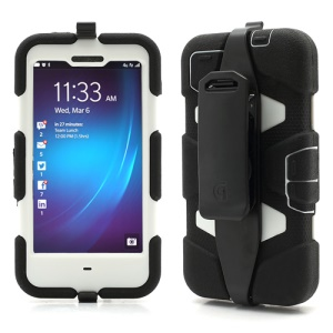 Griffin Survivor Military Duty Case with Belt Clip for BlackBerry Z10 - White / Black
