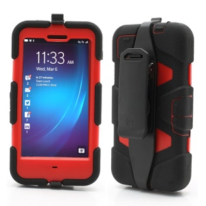 Griffin Survivor Military Duty Case with Belt Clip for BlackBerry Z10 - Red / Black