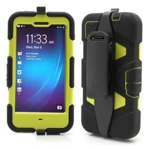 Griffin Survivor Military Duty Case with Belt Clip for BlackBerry Z10 - Green / Black