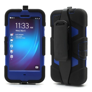 Griffin Survivor Military Duty Case with Belt Clip for BlackBerry Z10 - Dark Blue Blue / Black