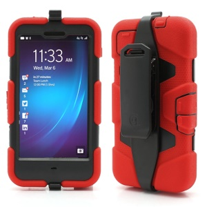 Griffin Survivor Military Duty Case with Belt Clip for BlackBerry Z10 - Black / Red
