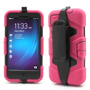 Griffin Survivor Military Duty Case with Belt Clip for BlackBerry Z10 - Black / Rose