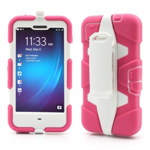 Griffin Survivor Military Duty Case with Belt Clip for BlackBerry Z10 - White / Rose