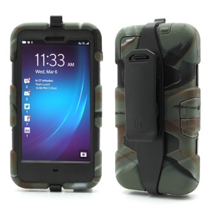 Griffin Survivor Military Duty Case with Belt Clip for BlackBerry Z10 - Black / Camouflage