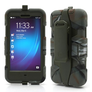 Griffin Survivor Military Duty Case with Belt Clip for BlackBerry Z10 - Army Green / Camouflage