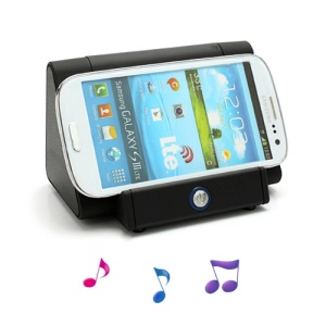 Wireless Magic Boost Cradle Amplify Speaker for iPhone iPod Samsung Nokia LG Sony etc - Black