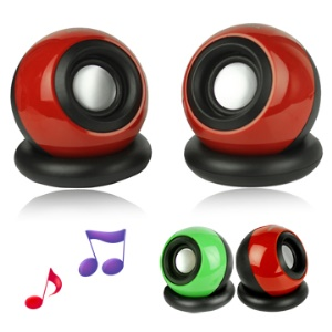 Spheroidal 2-Channel Mini USB Speaker for Computer/ Mobile Phone/ MP3 and etc(V-16)