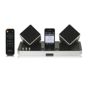 iPega 2.4G Wireless Home Theater Audio for iPhone 4S 4 3G 3GS New iPad iPad 2 iPod PS Vita, PC and Smartphone - Silver/Black
