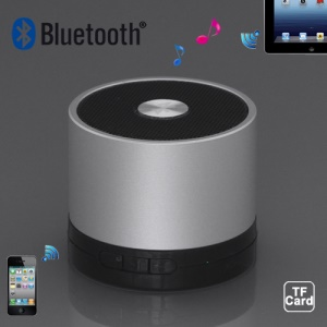 A102 Portable Hi-Fi Multimedia Bluetooth Speaker for iPad iPhone iPod Android Windows Smartphone - Metal Silver