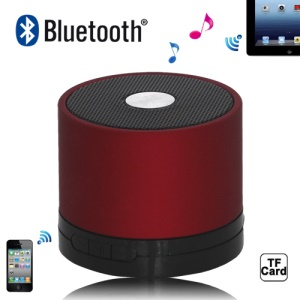 A102 Portable Hi-Fi Multimedia Bluetooth Speaker for iPad iPhone iPod Android Windows Smartphone - Red