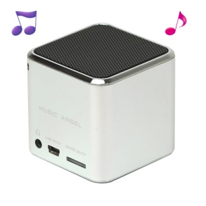 Original Music Angel JH-MD06 Micro SD TF Card Mini Digital Speaker - Silver