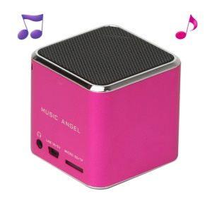 Original Music Angel JH-MD06 Micro SD TF Card Mini Digital Speaker - Rose
