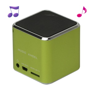 Original Music Angel JH-MD06 Micro SD TF Card Mini Digital Speaker - Green