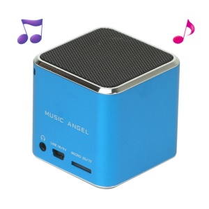 Original Music Angel JH-MD06 Micro SD TF Card Mini Digital Speaker - Blue