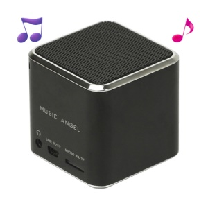 Original Music Angel JH-MD06 Micro SD TF Card Mini Digital Speaker - Black