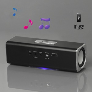 Music Angel USB Micro SD/TF Card Reader FM Radio Speaker for MP3 Mobile Phone PC(UK2) - Black