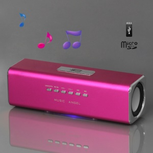 Music Angel USB Micro SD/TF Card Reader FM Radio Speaker for MP3 Mobile Phone PC(UK2) - Rose