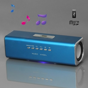 Music Angel USB Micro SD/TF Card Reader FM Radio Speaker for MP3 Mobile Phone PC(UK2) - Blue