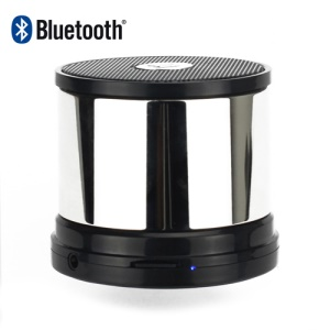 Portable Rechargeable Wireless Speaker Bluetooth Hands Free Calls - Silver