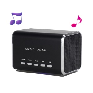 Angel Music MD05 Mini USB MP3 Player Speaker Amplifier TF Card Slot - Black