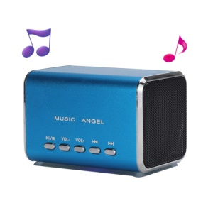 Angel Music MD05 Mini USB MP3 Player Speaker Amplifier TF Card Slot - Blue