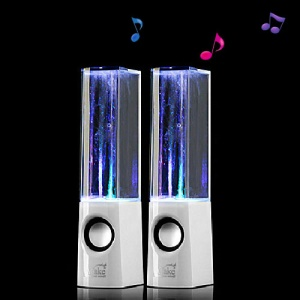 Creative ATake Water Dance Fountain Speaker for iPhone iPad iPod Mac PC MP3 MP4 - White