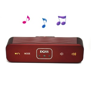 DOSS DS-1155 Wireless Motion Sensor Bluetooth Speaker w/ TF Card Slot - Red
