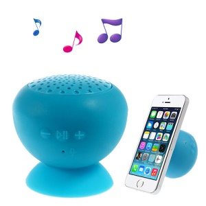 Portable Wireless Bluetooth Stereo Speaker for iPhone iPad Samsung with Suction Cup Mount - Blue