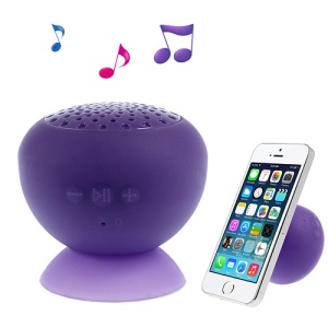 Portable Bluetooth Speaker for iPhone iPad Samsung with Suction Cup Mount - Purple