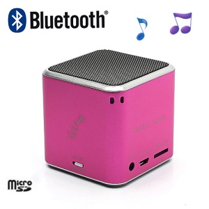 JH-MD06BT Music Angel Portable Stereo Bluetooth Speaker TF Card for iPhone iPod Smartphone - Rose