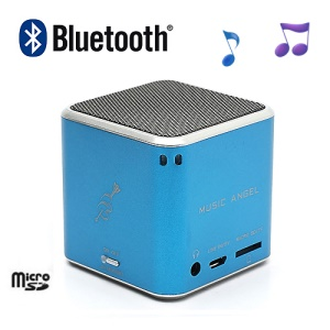 JH-MD06BT Music Angel Portable Stereo Bluetooth Speaker TF Card for iPhone iPod Smartphone - Blue