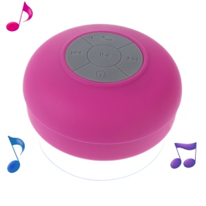 Mini Portable Waterproof Bluetooth Speaker with Suction Cup + Controls &amp; Microphone - Rose