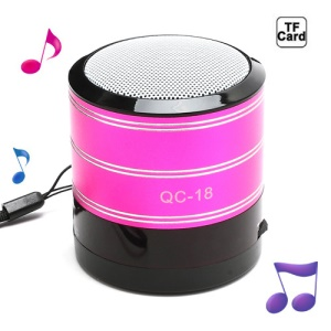 Portable FM Radio TF Card Music Player Mini Amplifier Speaker - Rose