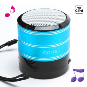 Portable FM Radio TF Card Music Player Mini Amplifier Speaker - Blue