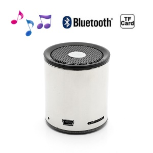 Portable Mini Wireless Bluetooth Stereo Speaker for iPhone Samsung HTC LG - Electroplated Silver
